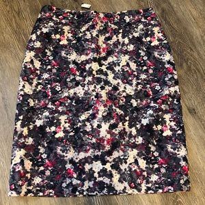 Talbots watercolor floral pencil skirt new size 8